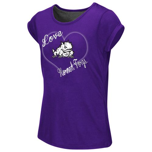 Colosseum Athletics™ Girls' Texas Christian University Baywatch Split Back T-shirt