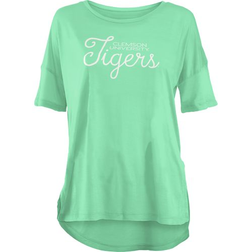 Three Squared Juniors' Clemson University Je T'Adore V-neck T-shirt
