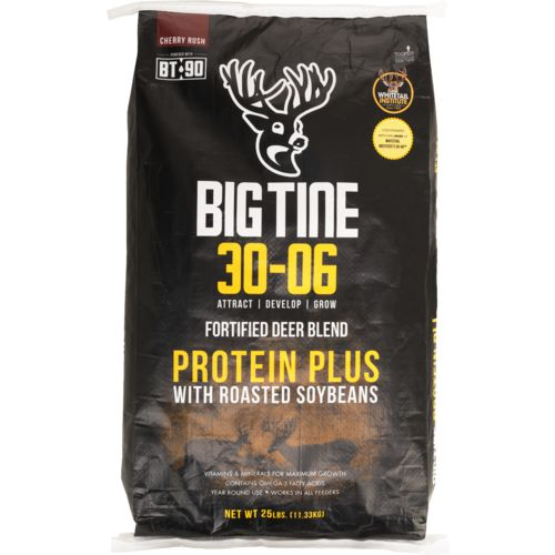 Display product reviews for Big Tine 25 lb 30-06 Protein Plus Deer Feed with BT-90
