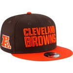 New Era Men's Cleveland Browns 9FIFTY Baycik Snapback Cap - view number 3