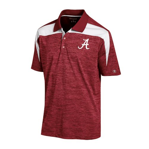 Champion™ Men's University of Alabama Synthetic Colorblock Polo Shirt