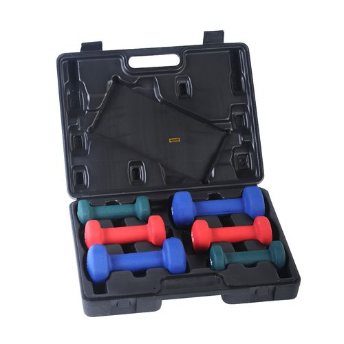 Sunny Health & Fitness Neoprene Dumbbell Set with Case