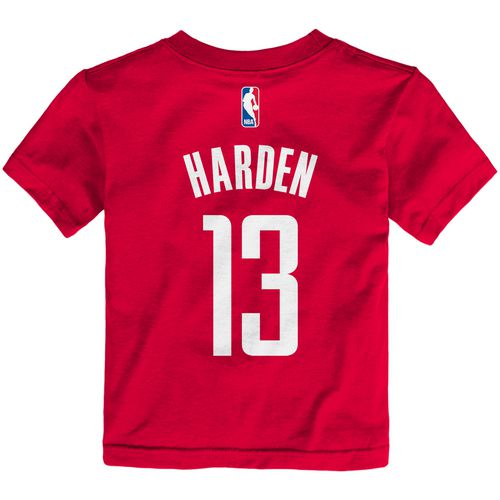 adidas Toddler's Houston Rockets James Harden 13 Game Time Name and Number T-shirt
