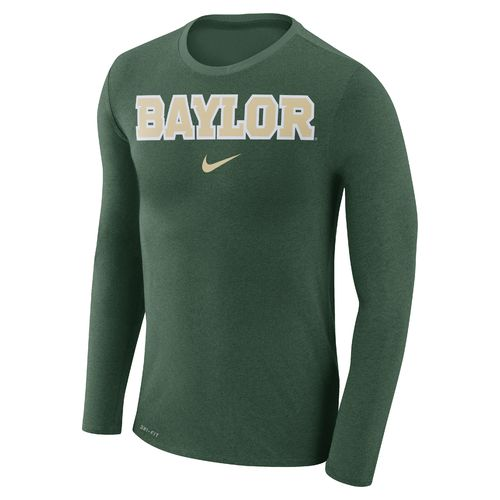 Nike Men's Baylor University Dry Marled Long Sleeve T-shirt