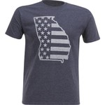 Academy Sports + Outdoors Men's Georgia American Flag T-shirt - view number 1