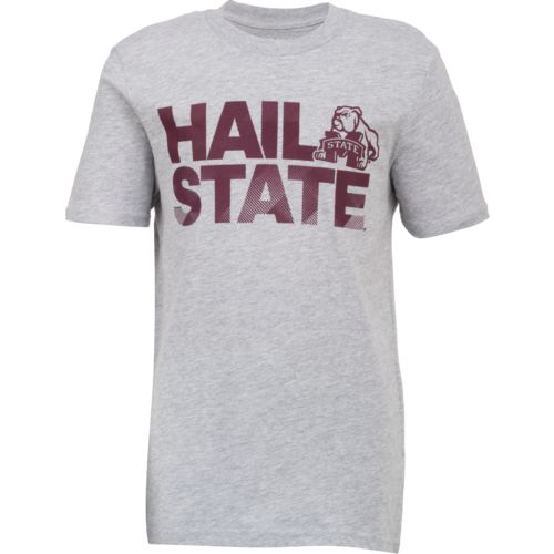 adidas Boys' Mississippi State University Stealth Slogan T-shirt