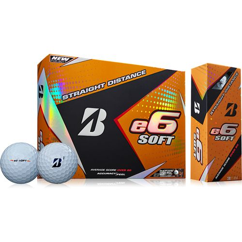 Bridgestone Golf e6 Straight Distance Soft Golf Balls 12-Pack