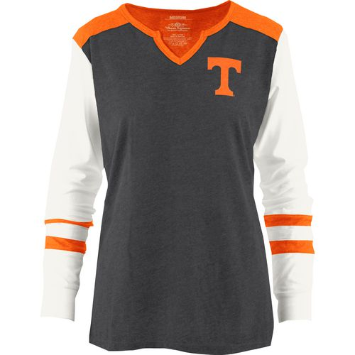 Three Squared Juniors' University of Tennessee Mia Raglan Long Sleeve Henley Shirt