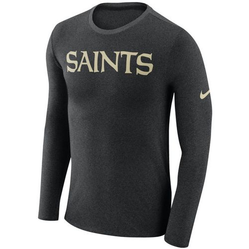 Nike™ Men's New Orleans Saints Marled Word Long Sleeve T-shirt - view number 1