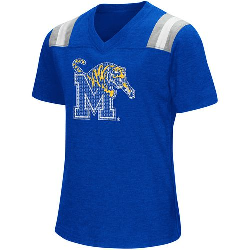 Colosseum Athletics Girls' University of Memphis Rugby Short Sleeve T-shirt