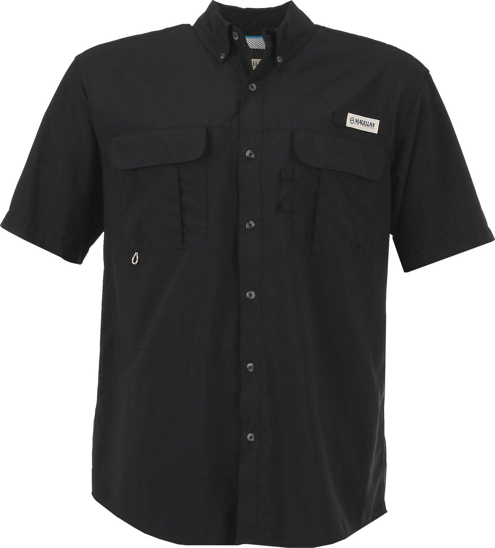 Magellan Outdoors Men\u0027s Laguna Madre Solid Short Sleeve Fishing Shirt