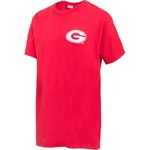 New World Graphics Women's University of Georgia Comfort Color Initial Pattern T-shirt - view number 3