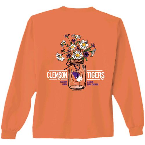 New World Graphics Women's Clemson University Bouquet Long Sleeve T-shirt