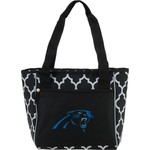 Logo Carolina Panthers Quatrefoil 16-Can Cooler Tote - view number 1