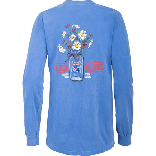 New World Graphics Women's Louisiana Tech University Bouquet Long Sleeve T-shirt