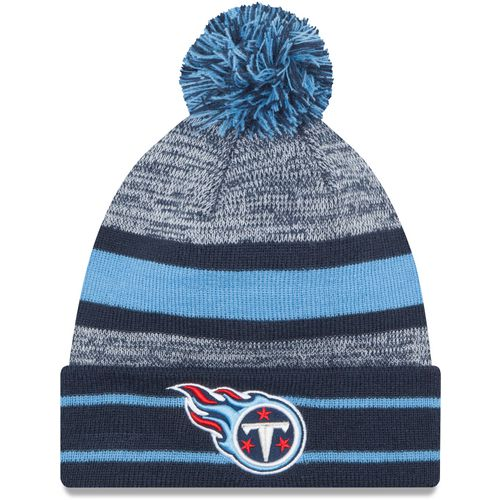 New Era Men's Tennessee Titans Cuffed Knit Cap with Pom
