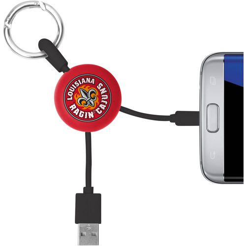 Mizco University of Louisiana at Lafayette Micro Phone Charger Keychain Cable