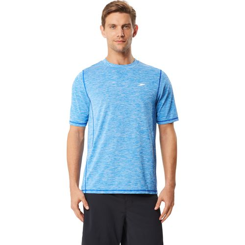 Speedo Men's Space Dye Short Sleeve Swim Shirt