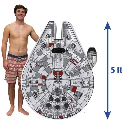 SwimWays Star Wars Millennium Falcon Ride-On Pool Float - view number 1