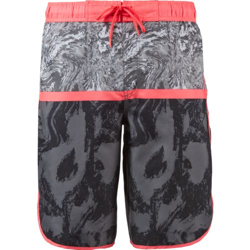 O'Rageous Men's Marble Print Scalloped Boardshorts