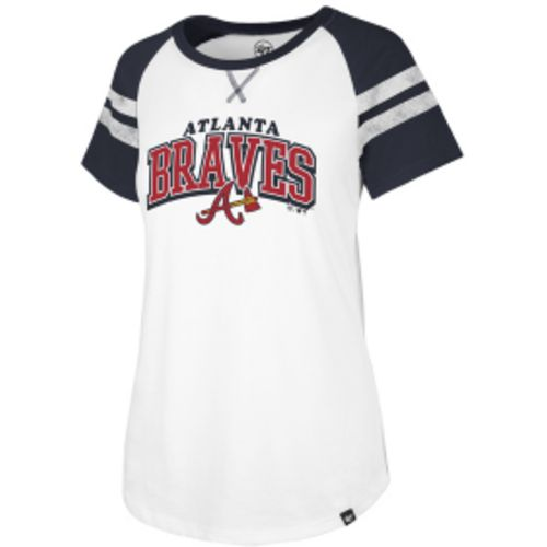 '47 Women's Atlanta  Braves Fly Out Raglan 3/4 Sleeve T-Shirt