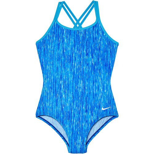 Nike Girls' Spiderback Rush Heather 1-Piece Swimsuit