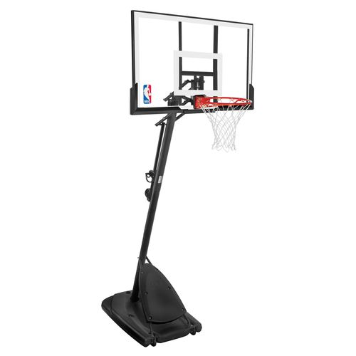 "Spalding 54"" Angled Pole Portable Basketball Hoop"
