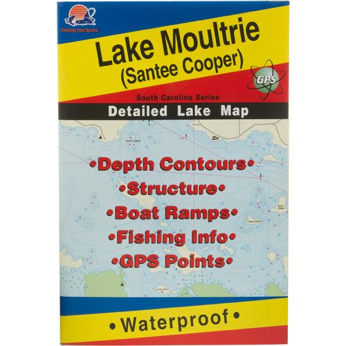 Fishing Hot Spots Lake Moultrie Fishing Map