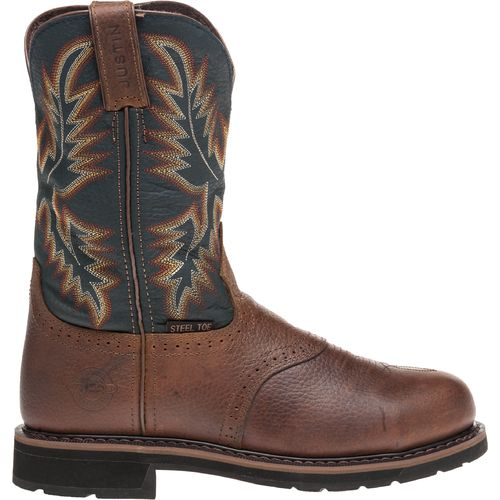 Display product reviews for Justin Men's Kettle Rowdy Steel Toe Western Work Boots