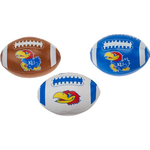 Rawlings® Boys' University of Kansas 3rd Down Softee 3-Ball Football Set