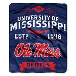 The Northwest Company University of Mississippi Label Raschel Throw