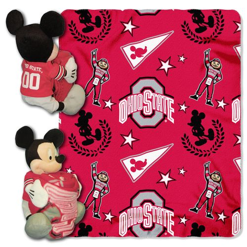 The Northwest Company Ohio State University Mickey Mouse Hugger and Fleece Throw Set