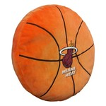 The Northwest Company Miami Heat Basketball Shaped Plush Pillow