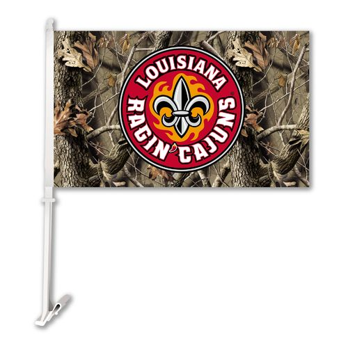 BSI University of Louisiana at Lafayette Realtree 2-Sided Car Flag