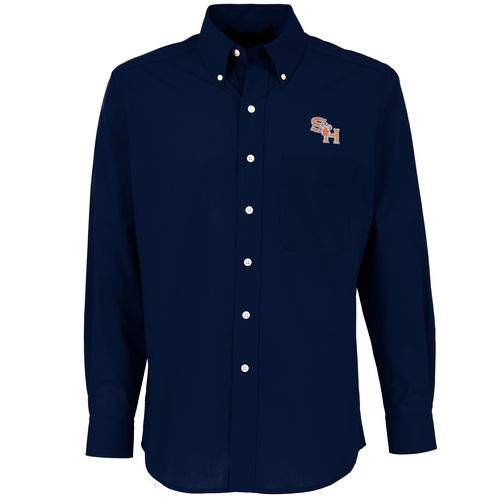 Antigua Men's Sam Houston State University Dynasty Long Sleeve Button Down Shirt