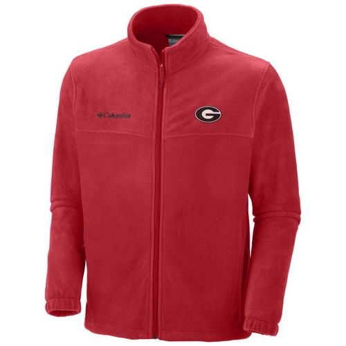Columbia Sportswear Men's University of Georgia Collegiate Flanker™ II Full Zip Fleece Jack - view number 1