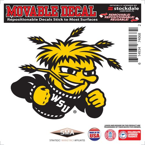 "Stockdale Wichita State University 6"" x 6"" Decal"