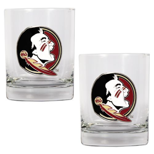 Great American Products Florida State University 14 oz. Rocks Glasses 2-Pack