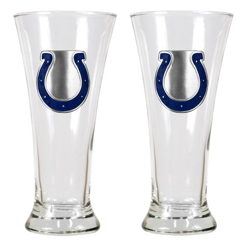 Great American Products Indianapolis Colts 19 oz. Pilsner Glasses 2-Pack