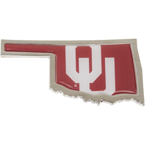 Stockdale University of Oklahoma Chrome State Shape Auto Emblem
