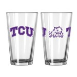 Boelter Brands Texas Christian University Game Day 16 oz. Pint Glasses 2-Pack