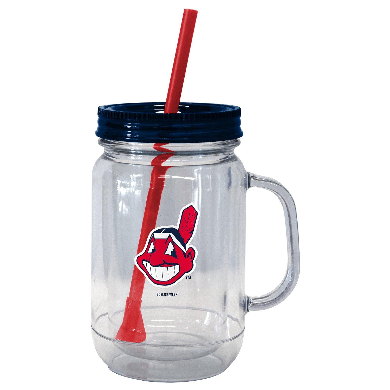 Boelter Brands Cleveland Indians 20 oz. Handled Straw