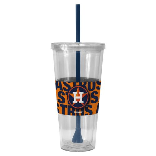 Boelter Brands Houston Astros Bold Neo Sleeve 22 oz. Straw Tumblers 2-Pack