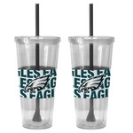 Boelter Brands Philadelphia Eagles Bold Neo Sleeve 22 oz. Straw Tumblers 2-Pack