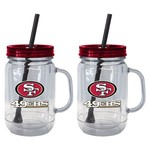 Boelter Brands San Francisco 49ers 20 oz. Handled Straw Tumblers 2-Pack