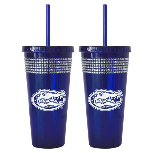 Boelter Brands University of Florida 22 oz. Bling Straw Tumblers 2-Pack