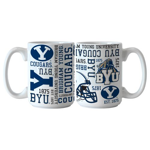 Boelter Brands Brigham Young University Spirit 15 oz. Coffee Mugs 2-Pack