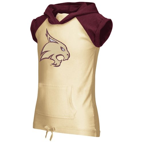 Colosseum Athletics Girls' Texas State University Jewel Short Sleeve Hoodie