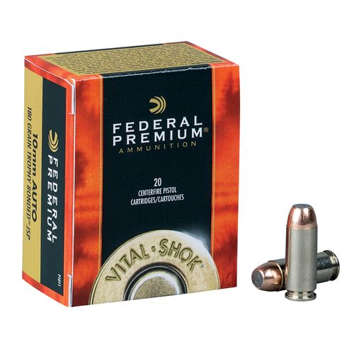 Federal Premium Vital-Shok 10mm 180-Grain Centerfire Handgun Ammunition