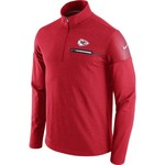 Nike Men's Kansas City Chiefs Elite Coaches 1/2 Zip Top